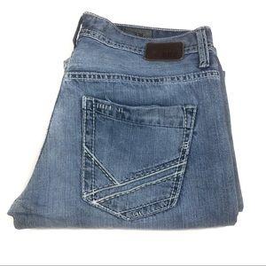 Men's buckle jeans J21